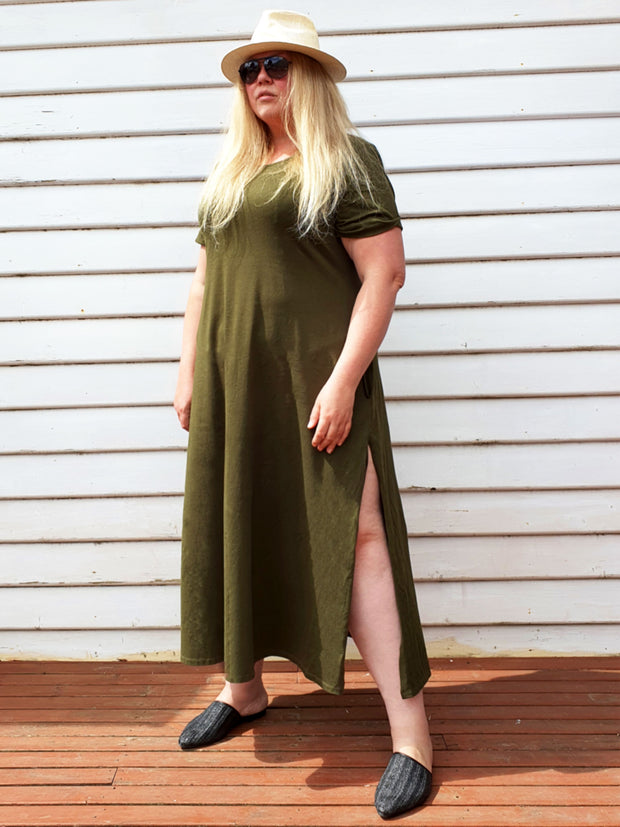 EveryDay T-Shirt Maxi Dress // Fatigue (Selling Out Quickly)