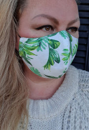 Face Mask - Havana Palm Print- Custom Printed- Hand Made