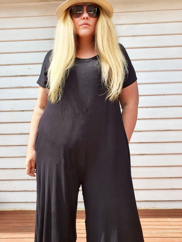 Relaxed Jumpsuit // Black (Selling Fast)