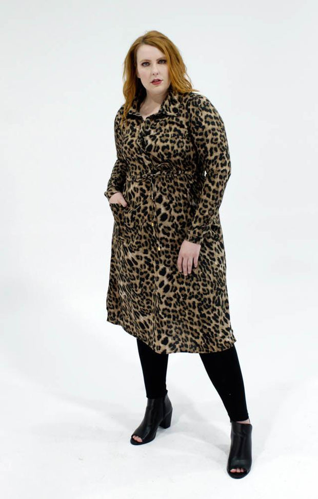 Milan Shirt Dress // Leopard