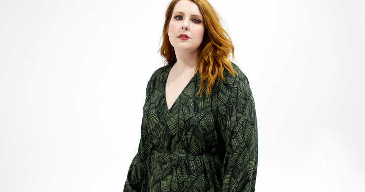 Paige Wrap Dress // Jungle Palm