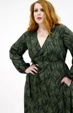 Load image into Gallery viewer, Paige Wrap Dress // Jungle Palm