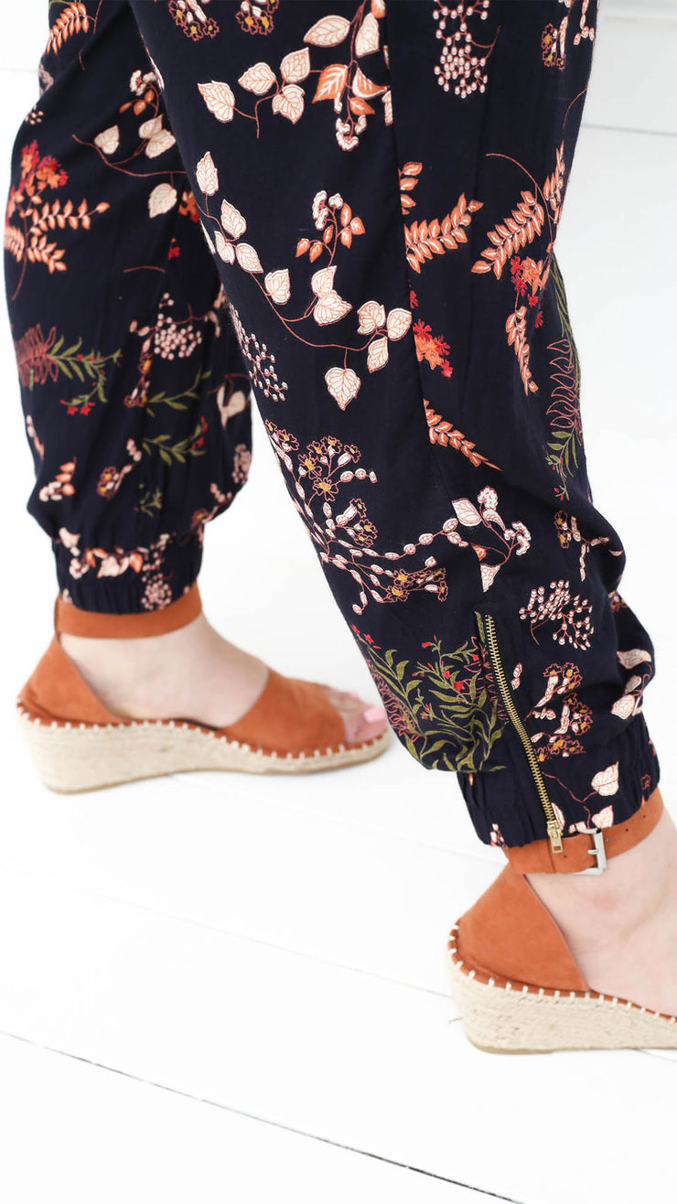 Printed Joggers // Woodland