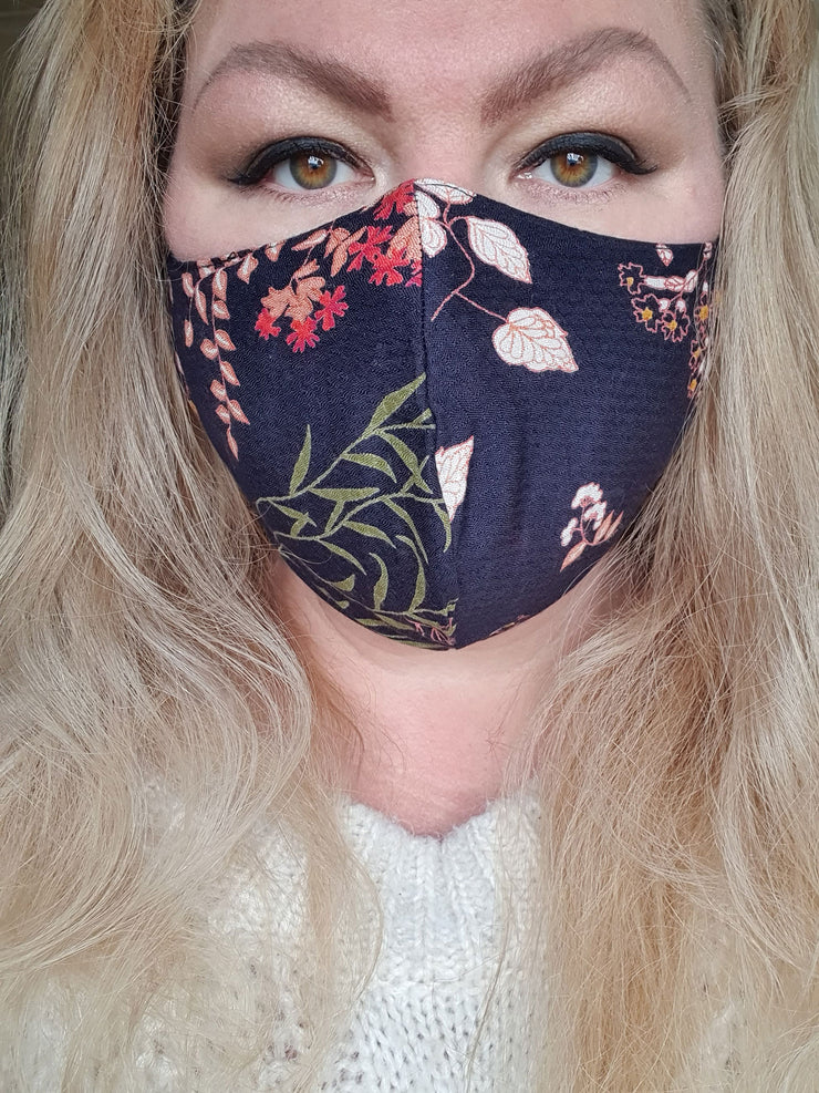 Face Mask - Woodland- Custom Printed- Hand Made