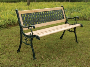 Garden Bench -Cross Back Resin Slat