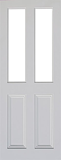 Indoors Claremont Primed Door Bevellled Glazed 78X30