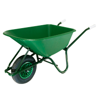 90Ltr. Rancher Plastic Body Wheelbarrow Assembled