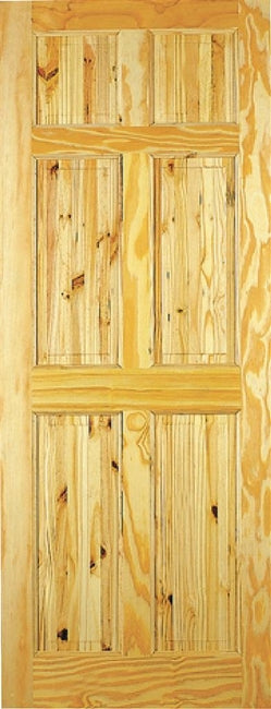 Indoors Berkley Pine Door 78X26X42Mm 6 Panel
