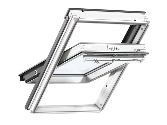 Velux White Painted Centre Pivot Roof Window - 55X98 cm