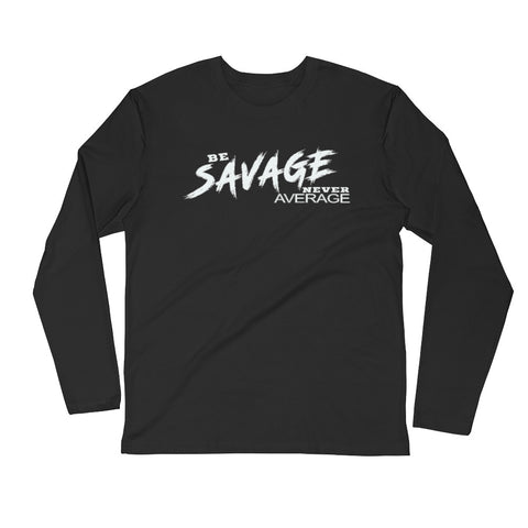 Slogan Long Sleeve Fitted Tee Shirt