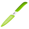 "Paring Knife - 4"" Inch Ceramic Zirconia Blade with Sheath - Green"
