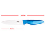 "Ceramic Kitchen Utility Paring Knife - 5"" Inch Chef Zirconia Blade with Sheath - Blue"