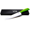 Ceramic Knife Chef with Sheath Cover Box and Cookbook 8 Inch - Green