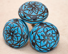 Load image into Gallery viewer, Hand Painted Antique Ceramic Door Drawer Knob - Petal Perfection - Beths Emporium