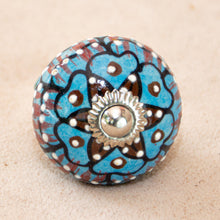 Load image into Gallery viewer, Hand Painted Antique Ceramic Door Drawer Knob - Flowers of Hearts & Love - Beths Emporium