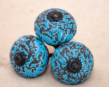 Load image into Gallery viewer, Hand Painted Ceramic Door Drawer Knob- Sky Blue Crackle - Beths Emporium
