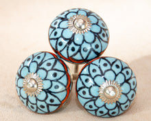 Load image into Gallery viewer, Hand Painted Antique Ceramic Door Drawer Knob - Fresh Fields - Beths Emporium