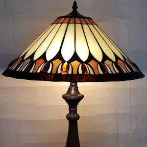 Leadlight Style Lamp - Amelia Table Lamp - Beths Emporium