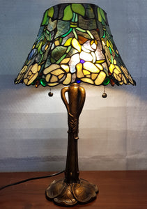 Leadlight Style Lamp - Annesley Table Lamp - Beths Emporium