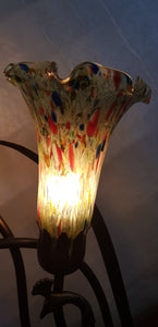Leadlight Style Lamp - Athene Table Lamp - Beths Emporium