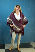 Load image into Gallery viewer, Cardigan - Charcoal & Lemon Tassel Shawl - Beths Emporium