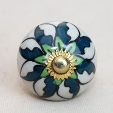 Load image into Gallery viewer, Hand Painted Antique Ceramic Door Drawer Knob - New Life - Beths Emporium