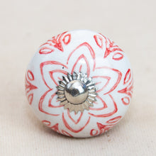 Load image into Gallery viewer, Hand Painted Antique Ceramic Door Drawer Knob - Indian Influences - Beths Emporium