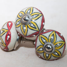 Load image into Gallery viewer, Hand Painted Antique Ceramic Door Drawer Knob - Perfect Petals - Beths Emporium