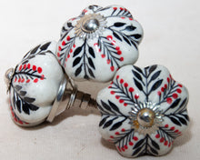 Load image into Gallery viewer, Hand Painted Antique Ceramic Door Drawer Knob - Whispering Wind - Beths Emporium