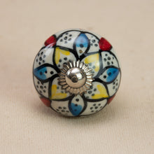 Load image into Gallery viewer, Hand Painted Antique Ceramic Door Drawer Knob - Brilliant Beauty - Beths Emporium