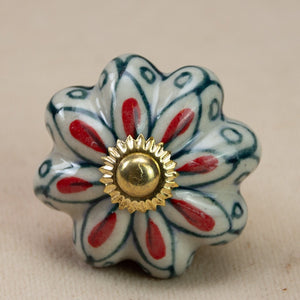 Hand Painted Antique Ceramic Door Drawer Knob - Just Picked! - Beths Emporium