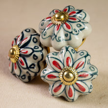 Load image into Gallery viewer, Hand Painted Antique Ceramic Door Drawer Knob - Just Picked! - Beths Emporium
