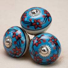 Load image into Gallery viewer, Hand Painted Antique Ceramic Door Drawer Knob - Hawaiian Hibiscus - Beths Emporium