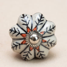 Load image into Gallery viewer, Hand Painted Antique Ceramic Door Drawer Knob - Nordic Nuance - Beths Emporium