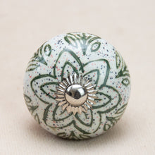 Load image into Gallery viewer, Hand Painted Antique Ceramic Door Drawer Knob - Go Green - Beths Emporium