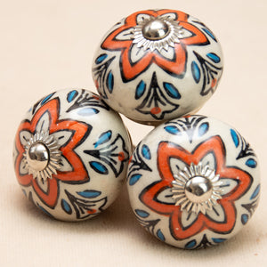 Hand Painted Antique Ceramic Door Drawer Knob - My Happy Place - Beths Emporium