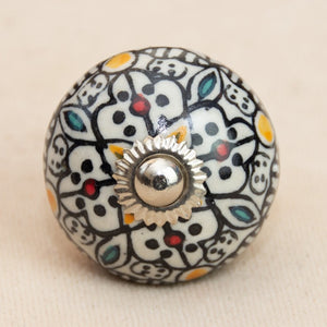 Hand Painted Antique Ceramic Door Drawer Knob - Persian Glory - Beths Emporium