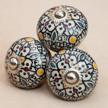 Load image into Gallery viewer, Hand Painted Antique Ceramic Door Drawer Knob - Persian Glory - Beths Emporium