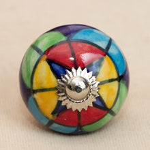 Load image into Gallery viewer, Hand Painted Antique Ceramic Door Drawer Knob - Verily Vibrant - Beths Emporium