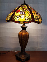 Load image into Gallery viewer, Leadlight Style Floral Urn Table Lamp - Beths Emporium
