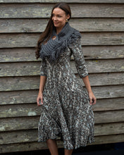 Load image into Gallery viewer, Chunky Knit Charcoal Grey Neck Shrug Scarf - Beths Emporium
