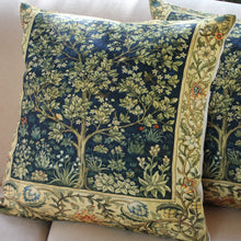 Load image into Gallery viewer, Linen Cushion Cover - Renaissance Tree of Life - Beths Emporium