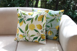 Linen Cushion Cover - Lemon Fresh, Neutral Ground - Beths Emporium