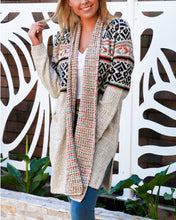 Load image into Gallery viewer, Chunky Knit Cardigan Jacket  - Long Line Soft Grey - Beths Emporium