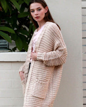 Load image into Gallery viewer, Chunky Knit Longline Cardigan - Beige - Beths Emporium
