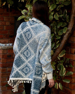 Chunky Knit Cardigan - Blue - Beths Emporium