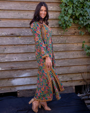 Load image into Gallery viewer, Deep Green Floral Dress - Beths Emporium