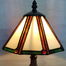Load image into Gallery viewer, Leadlight Style Small Hexagonal Lamp - Beths Emporium