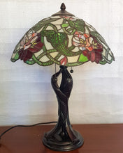 Load image into Gallery viewer, Leadlight Style Peony Table Lamp - Beths Emporium