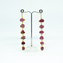 Load image into Gallery viewer, Handmade Red Garnet Earrings - one off piece - Beths Emporium